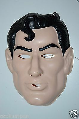 WOW Vintage Child's Small SUPERMAN Comics Plastic Halloween Mask Rare