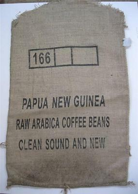 Collectable jute/hessian coffee sack kitchenalia advertising PNG Arabica beans