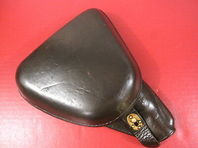 WWII Japanese Type 14 Clamshell Leather Holster for Nambu Pistol - Very Nice #5
