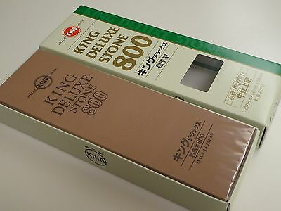 King 800 GRT Deluxe Whetstone Sharpening Waterstone Sharpener/Made in Japan