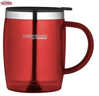 Thermos Thermocafe Desktop Mug Red 450ml Portable Outdoor Office New