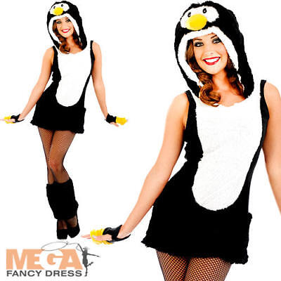 056fc763a2d06 Sexy Penguin Ladies Fancy Dress Animal Fun Christmas Womens Adult Costume  8-22