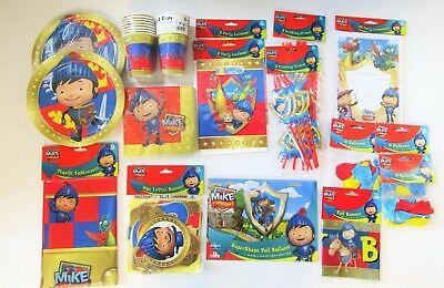 Mike the Knight Super Party Pack For 16 People Tableware - decorations etc