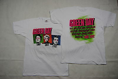 Green Day Uno Dos Tre Tour 2012 T Shirt New Official Dookie Nimrod Insomniac