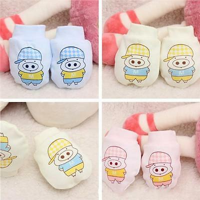 Newborn Baby Cartoon Gloves Breathable Anti Grasping Mittens Toddler Gloves LA