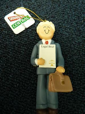 Ornament Central Lawyer Attorney Male Blond Christmas Ornament NEW (o2456)