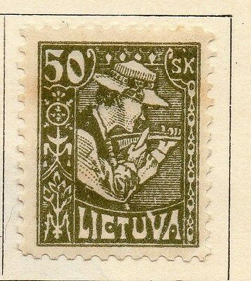 Lithuania 1921-22 Early Issue Fine Mint Hinged 50s.