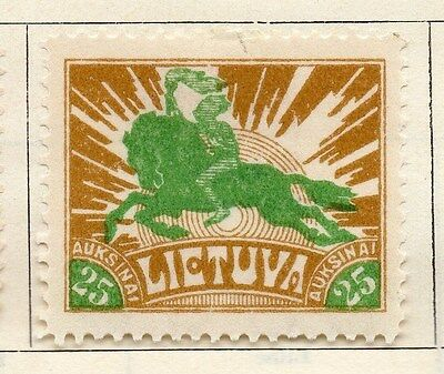Lithuania 1921-22 Early Issue Fine Mint Hinged 25a.