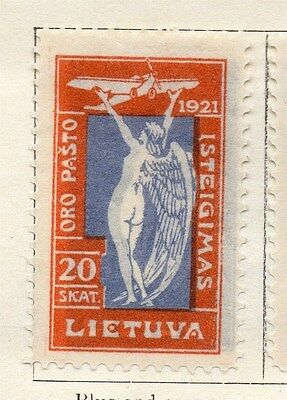 Lithuania 1921 Early Issue Fine Mint Hinged 20s.