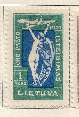 Lithuania 1921 Early Issue Fine Mint Hinged 1a.