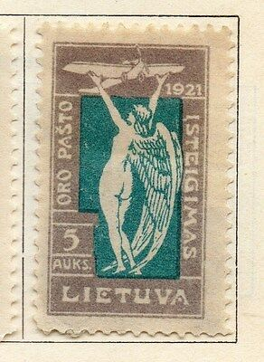 Lithuania 1921 Early Issue Fine Mint Hinged 5a.