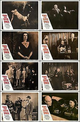 PLAN 9 FROM OUTER SPACE ED WOOD COMPLETE SET OF 8 INDIV 11x14 LC PRINTS 1959