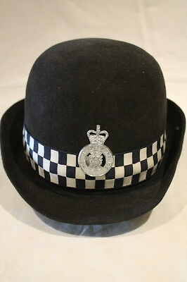 British Womens Police Diced Hat North Wales Constabulary 7 1/8