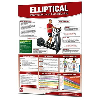 Productive Fitness Motivational Poster Elliptical Machine Conditioning Chart