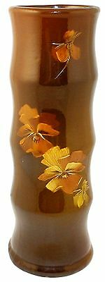 Owens Pottery Utopian Colorful Pansy Wall Pocket (Artist Signed)