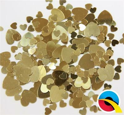 Assorted Gold Hearts Metallic Table Confetti Sprinkles - 12g bag