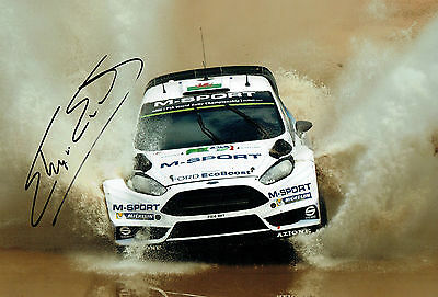 Elfyn EVANS WRC Rally Ford Fiesta RS SIGNED AUTOGRAPH 12x8 Photo AFTAL COA