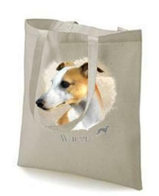 Whippet Printed Design No 17495 Tote Shopping Bag