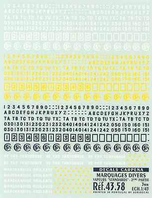 Colorado Decals O-Gauge STEAM ENGINE NUMBERS LETTERS STANDARD Part 2