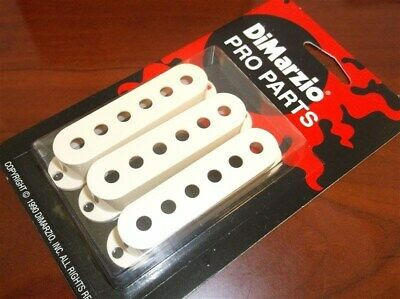 NEW - DiMarzio USA MADE DM2001 Strat Pickup Covers (3) - AGED WHITE