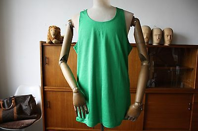 ERIMA Sport Shirt D8 green XL West Germany Muskelshirt 70er Trikot True VINTAGE