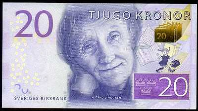 SWEDEN   20  KRONOR  2015 AU  P NEW   Uncirculated Banknotes