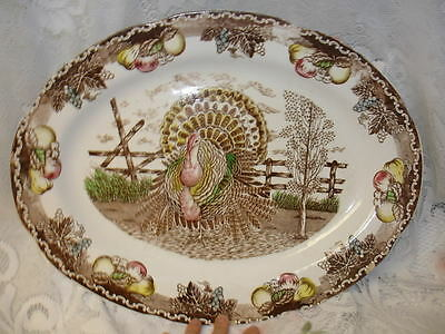 Vintage Ironstone King Tom Thanksgiving Turkey Platter