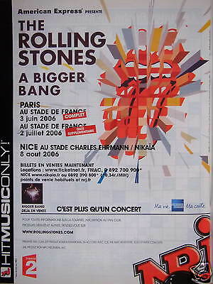 Publicité 2006 Radio Nrj Hitmusiconly The Rolling Stones A Bigger Bang