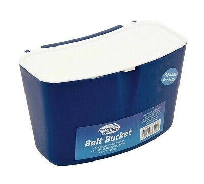 Jarvis Walker Large Bait Bucket with Velcro Belt and Stainless Steel Pins