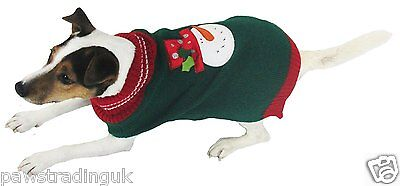 Good Boy Pet Dog Christmas Xmas Winter Jumper Sweater Puppy Snowman Small Dogs