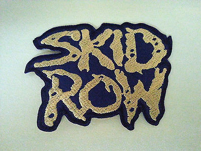 PUNK ROCK HEAVY METAL MUSIC SEW ON / IRON ON PATCH:- SKID ROW (a) YELLOW