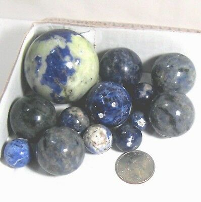Lapis or Sodalite round ball/sphere/marble rock Select stone, size & price