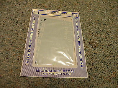 Microscale decals S 64-171 BN 3 unit husky stack container car N2