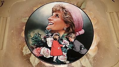 "The Franklin Mint: 8"" Plate - Diana, Princess of Wales: ENGLAND'S ROSE  P12"