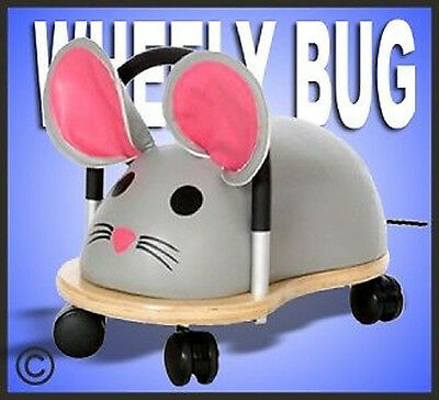 *NEW* ORIGINAL SMALL WHEELY BUG MOUSE Toddler Ride-On Toy