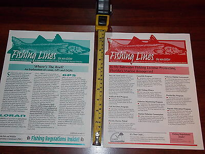 Fishing Lines Newsletter Florida Saltwater 1999 Lot Of 2 1997