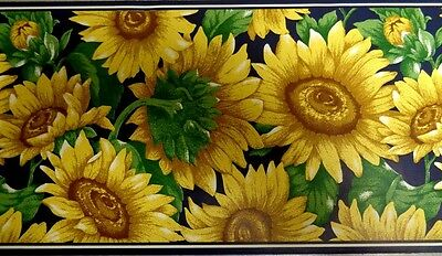 1Roll Wallpaper Border WB6234 Floral Sunflowers Country Prepasted 5yds DX31/10
