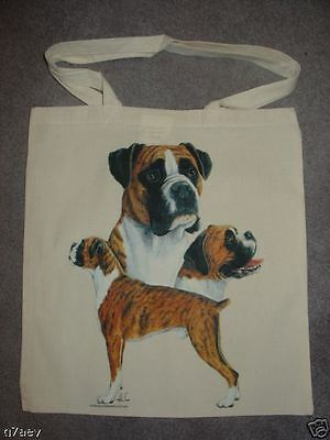 3 Boxer Dogs  On  A Tote Canvas Bag