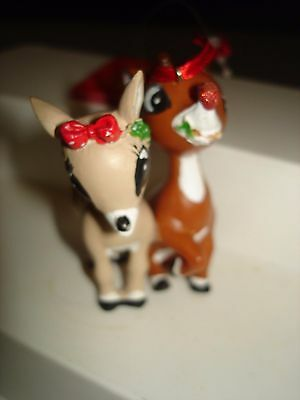 Dept 56 Christmas Rudolph & Girlfriend Clarice Ornament 2014 TV Movie Misfit Toy