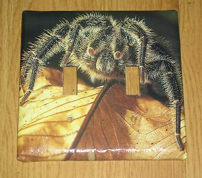 AWESOME TARANTULA HARRY SPIDER 2 HOLE Light Switch Cover Plate