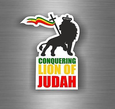 Sticker car decal rasta reggae JAH macbook lion of judah one love rastafarai r9