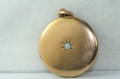 Victorian Antique Gold Filled Opal 1.25 Inch Large Locket