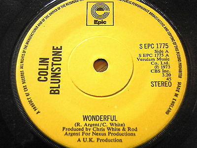 "Colin Blunstone - Wonderful  7"" Vinyl"