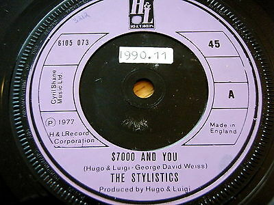 """The Stylistics - $7000 And You  7"""" Vinyl"""
