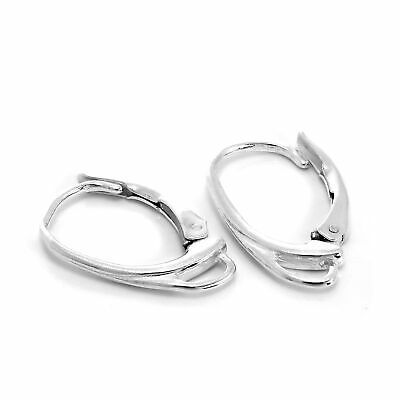 Pair 925 Sterling Silver Leverback Earring Wires Lever Back Findings Making