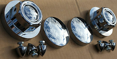 Chrome 1936-1964 Harley Knucklehead Panhead Gas Cap Set Vintage High Quality 417