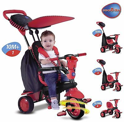 Smart Trike Spark Touch Steering 4-in-1 Babies Tricycle Red NEW