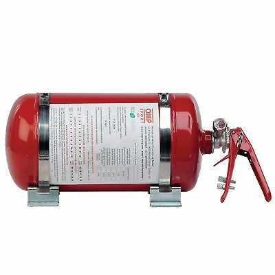 OMP Rally/Racing Sport Mechanical Fire Extinguisher Kit - 4.25 Ltr Steel Bottle