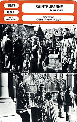 Fiche Cinéma. Movie Card. Sainte Jeanne/Saint Joan (USA) 1957 Otto Preminger