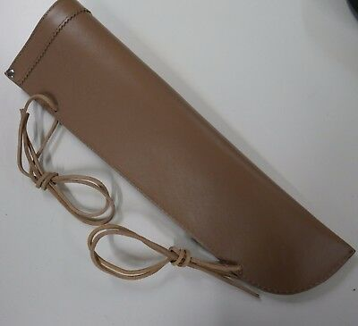 double bass bow quiver leather jazz - coffee / light brown ,same day UK shipping